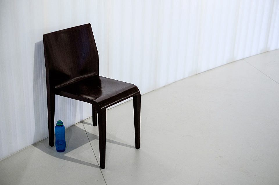 Chair and water bottle